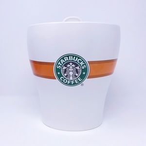 STARBUCKS Ceramic Cookie Jar Canister with Lid